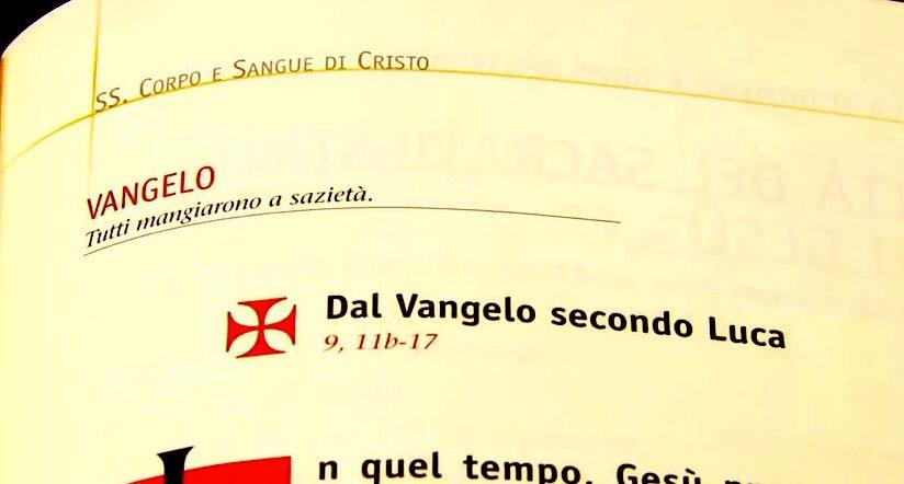 Vangelo di domenica 2 giugno 2013 – Corpus Domini