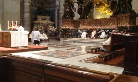 Messa di ringraziamento dei giovani con il Vescovo in San Pietro