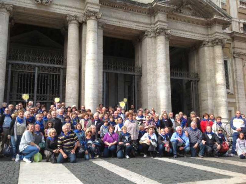 Le immagini del pellegrinaggio con il Vescovo nell'Anno della Fede: Roma