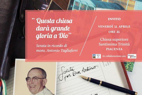 Mons. Antonio Tagliaferri: serata in ricordo