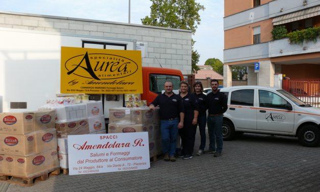Donazione Aurea srl e Spacci Amendolara Roberta pro Caritas Diocesana