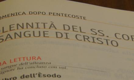 Vangelo del 3 giugno 2018 – Solennità del SS. Corpo e Sangue di Cristo – con Giovanni Marchioni