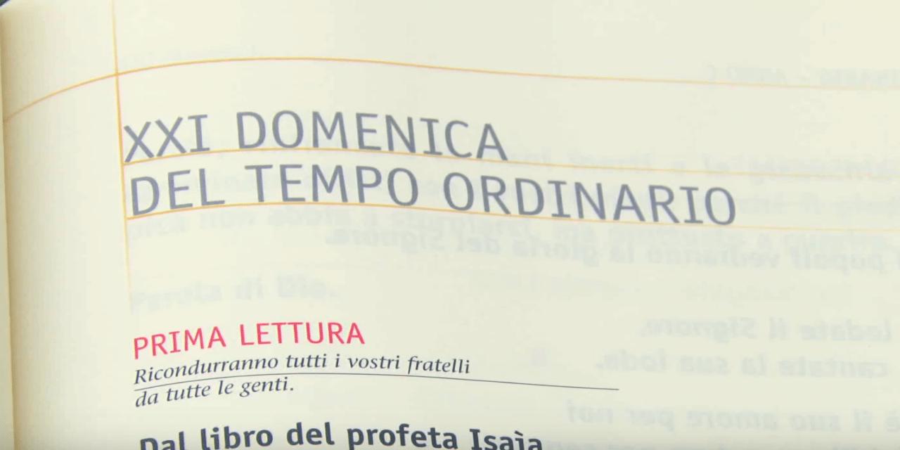 Vangelo di Domenica 25 agosto 2019 – XXI Domenica del Tempo Ordinario