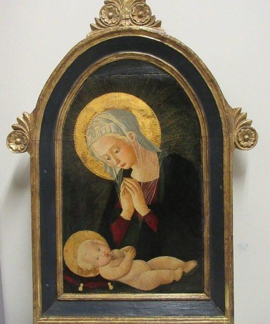 """""""La Madonna in adorazione del Bambino"""":restituita a Castell'Arquato"""