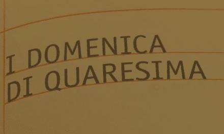 Vangelo di Domenica 18 febbraio 2018 – I del Tempo di Quaresima – con Mons. Giuseppe Busani